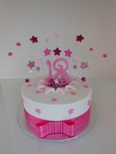 18th Birthday Cake For Girls, Birthday Cakes, Girl Birthday, Cake Decorating, Decorating Ideas, Star Cakes, Milestone Birthdays, Girl Cakes, Childrens Party