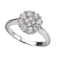 Diamond Clustaire Ring in 14k white gold