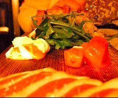 Smoked Duck Breast - grilled endive salad / kumquat confit, caramel mascarpone      Elate Restaurant - Hotel Felix, Chicago