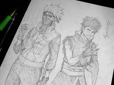Kakashi and Obito by *Abz-J-Harding on deviantART Naruto Art, Anime Naruto, Team Minato, Kakashi And Obito, Drawing Exercises, Naruto Series, Awesome Anime, Anime Characters, Concept Art