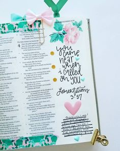 Lamentations 3:57 / maker_mom Scripture Art, Bible Art, Bible Verses, Scriptures, Lamentations, Psalms, Bible Doodling, Bible Knowledge, Illustrated Faith