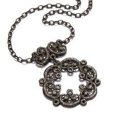 Brigitte Adolph - Black Silver Ariadne Pendant Necklace - ORRO Contemporary Jewellery Glasgow