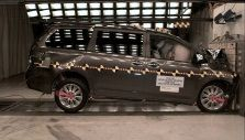 2014 Toyota Sienna Awarded 5-Star Overall Rating in NHTSA Crash Tests [picture after frontal crash test]