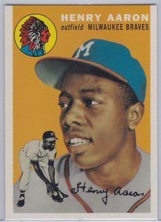 Comprehensive guide to vintage Topps Hank Aaron cards. Includes a full checklist, images and shopping guide for all Topps Hank Aaron cards from Hank Aaron, Yankees Team, Baseball Cards For Sale, Baseball Pics, Braves Baseball, Autographed Baseballs, Baseball Players, Mlb Players, Atlanta Braves