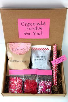 Valentine's Day Fondue Kit Gift Idea