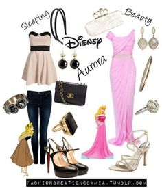 Disney Style- Sleeping Beauty~ the casual look is so classy and girly. Love it!