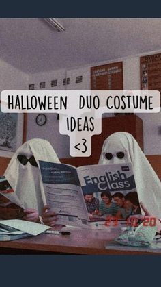 Halloween Duos, Duo Costumes, Cute Group Halloween Costumes, Trendy Halloween, Couple Halloween, Halloween Outfits, Costume Ideas For Groups, Group Costumes, Best Friends Whenever