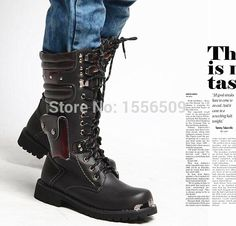 Special offer  BAND GOTH TOP COOL MEN BOOT 2015 NEW PUNK Rock MEN MALE Fashion Motorcycle Riding Army long Boot PU leather-in Boots from Shoes on Aliexpress.com | Alibaba Group