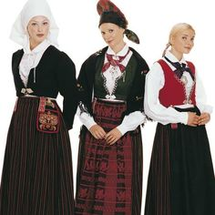 Stein Sjølie Vest-Agder, Female Bunad comes in three variants: a crinkled, puckered one and a striped Folk Costume, Costumes, Norwegian Clothing, Kristiansand, Beautiful Norway, Snow Queen, Traditional Outfits, Vest, Female