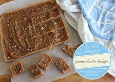 Salted Caramel Peanut Butter Fudge | Dairy Free/Egg Free/Low Sugar/Gluten Free | Big Batch recipe!