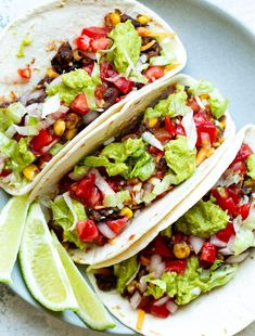 A quick and easy black bean taco filling that even meat eaters will love! Loaded with flavour and plant-based protein, it's a great vegan taco night option! Chocolates, Greek Yogurt Muffins, Black Bean Tacos, Taco Fillings, Oat Bars, Granola Bars, Banana Oats, Banana Bread, Overnight Oatmeal