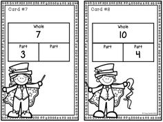 7 sets of task cards in ONE BUNDLE! Part-part-whole, adding to 20, even/odd, decomposing numbers, and place value. Use the cards in centers, with the whole class, or in a group of SCOOT! Grades 1-2