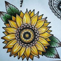 vintage tattoo Trendy Tattoo Old School Ideas Vintage Traditional Styles 69 Ideas Sunflower Tattoo Sleeve, Sunflower Tattoo Shoulder, Sunflower Tattoo Small, Sunflower Tattoos, Sunflower Tattoo Design, Sunflower Mandala Tattoo, Butterfly Tattoos, Vintage Blume Tattoo, Vintage Tattoo Design