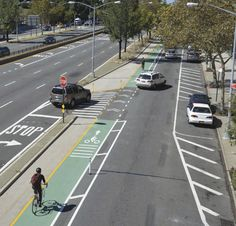 Nueva York sigue apostando por las ciclobandas para aumentar la seguridad en las calles