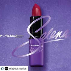 #Repost @maccosmetics with @repostapp.  A preview of Como La Flor Lipstick one of the products from the upcoming #MACSelena collection! @SelenaQOfficials vivacious music and style lives on through the passion of her fans and her impact on Latin beauty and culture. #MACSelena is a makeup collaboration inspired by the devotion of all those who continue to be touched by the young legend tenderly curated with Selenas own sister Suzette Quintanilla. I wanted the colours to be about her personally…