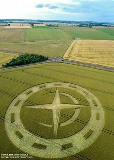 Crop Circles - Winterbourne Stoke Down, Stonehenge, Wiltshire - Inglaterra, UK.  Reportado em 10 de Julho de 2015.