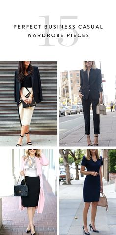 15 Pieces to a Perfect Business Casual Wardrobe  via @PureWow