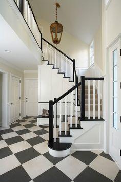 A bold checkered floor.
