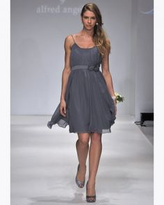 "See the ""Disney Fairy Tale Weddings by Alfred Angelo, Fall 2012"" in our Silver & Gray Bridesmaid Dresses gallery"