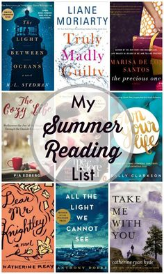 My Summer Reading List for 2016. A list of books to read during the summer months!