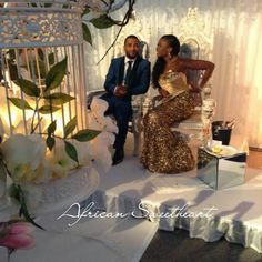 African Sweetheart Weddings Sneak K Inside The Wedding Reception Of Mr Mrs Lucciano Gabriel Decor