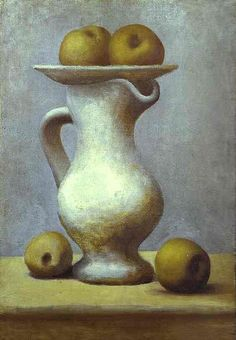 Picasso, Pablo (1881-1973) - 1919 Still-Life with a Pitcher and Apples (Musee Picasso, Paris)