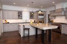 Simple, classic white/light kitchen.