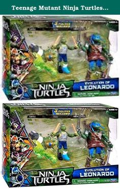 "Teenage Mutant Ninja Turtles Movie Action Figure Set, Evolution of Leonardo. Ninja Turtles Movie ""Evolution of Leonardo"" Figure Set Includes 3 figures!."