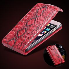 KISSCASE For iPhone 6 6s 5s SE 5 Case Luxury PU Leather Case Snake Skin Vertical Flip Phone Case Card Slot Cover Accessories