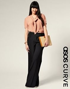 ASOS CURVE Wide Leg Pants - StyleSays