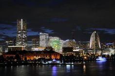Yokohama Japan 一眼レフで横浜の夜景