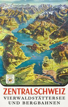 Koller, L poster: Zentralschweiz (Central Switzerland)