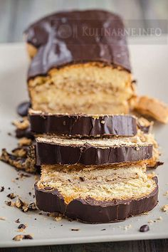 Polish Desserts, Polish Recipes, Cookie Desserts, Sweet Recipes, Cake Recipes, Dessert Recipes, Kolaci I Torte, Different Cakes, Sweets Cake