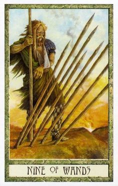 The Druid Craft Tarot ► Nine of Wands