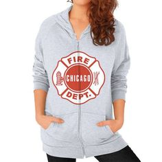New chicago fire Zip Hoodie (on woman)
