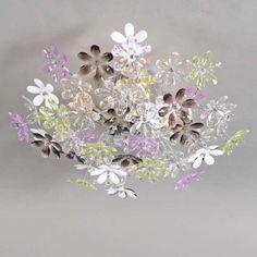Deckenleuchte Fiore 4 Chrom #Deckenleuchte Blume #Blumenleuchte #Frühlingsfarben