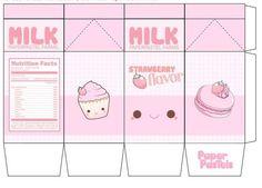 9 Best Images of Milk Kawaii Printable Papercraft - Kawaii Milk Carton Template, Cute Kawaii Milk Papercraft and Kawaii Milk Papercraft Printable Kawaii Diy, Kawaii Crafts, Cute Crafts, Diy And Crafts, Crafts For Kids, Doll Crafts, Diy Paper, Paper Crafts, Paper Doll Template