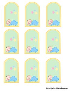 blank baby boy shower food tags | Free Printable baby girl, boy Baby Shower Favor Tags | Print This ...