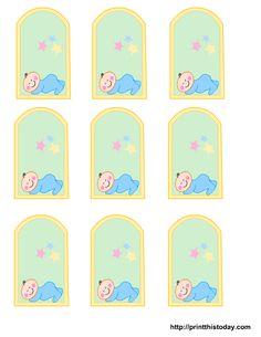 blank baby boy shower food tags | Free Printable baby girl, boy Baby Shower Favor Tags | Print This ...