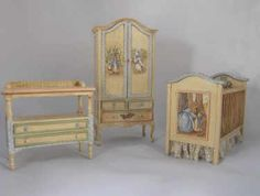 Peter Rabbit Nursery Set FOR MINATURES!!  But it would be a lovely nursery for a REAL baby.