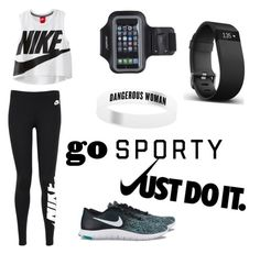 """Deporte (Nike)"" by fanita-jaja on Polyvore featuring NIKE, Marika and Fitbit"