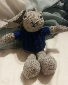 Knitted Bunny Toy Free Pattern