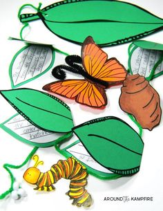 Butterfly life cycle Activities- Life cycle on a string with mini books for students to write about each stage of the life cycle of butterflies.