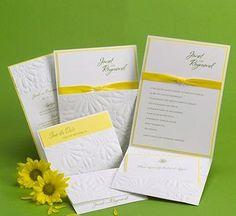 Yellow & White Invitations