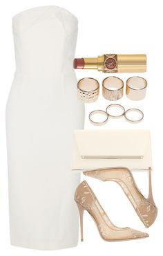"""""""Style #9424"""" by vany-alvarado ❤ liked on Polyvore featuring Roland Mouret, Jimmy Choo, Wet Seal and Yves Saint Laurent"""