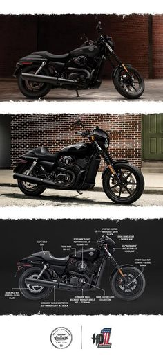 Take on the urban grid with 500cc of easy-handling, blacked-out Dark Custom style. | 2017 Harley-Davidson Street 500