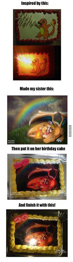 Just my sister's birthday cake
