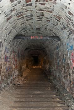 Abandoned Haydenville Tunnel, used for mining product transportation, southern Ohio. I've been here, but would love to go again and explore the tunnel further. Old Buildings, Abandoned Buildings, Abandoned Places, Creepy Houses, Haunted Places, Abandoned Mansions, Pathways, Stairways, Ghosts