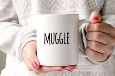 One Harry Potter muggle 11oz white ceramic coffee mug. Each mug is professionally printed: with designs on both sides of the mug - so everyone can