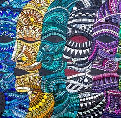 """We Are All Colour"" Mosaic by Julie Edmunds"